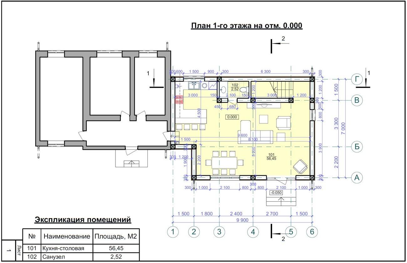 Проекты домов 1 этаж